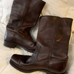 Vintage Frye mid calf zippered boots
